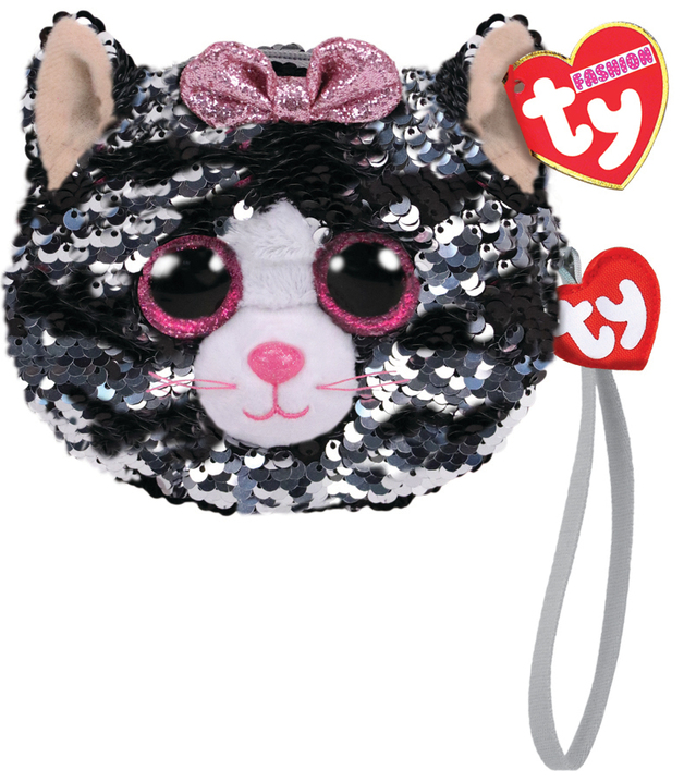 Ty Fashion: Sequin Wristlet - Kiki Cat