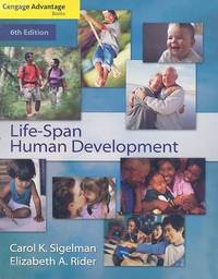 Life-span Human Development by Carol K Sigelman image