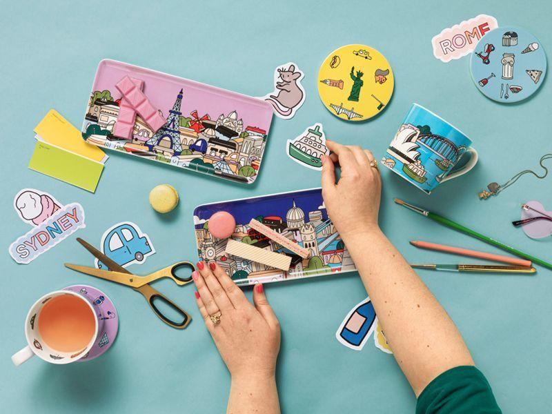 Maxwell & Williams: Megan McKean Cities Ceramic Round Coaster - Paris image