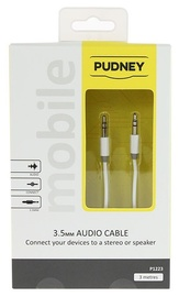Pudney: 3.5mm Stereo Plug To 3.5mm Stereo Plug 3 Metre - White