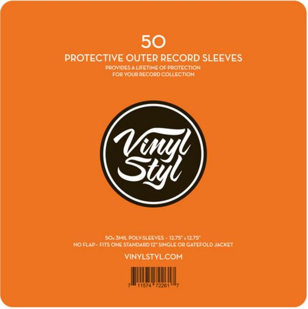 "Vinyl Styl: Protective Outer Record Sleeve - 12.75"" (50 Pack)"