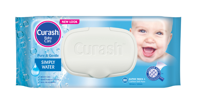Curash Simply Water Baby Wipes (80's)