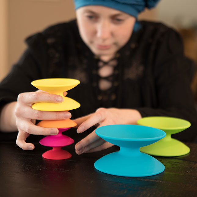 Fat Brain Toys: Spoolz - Colourful Stacking Toy image