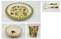 Toodles Noodles: Owls & Kiwis Kids Tableware Set (5 Piece Set)
