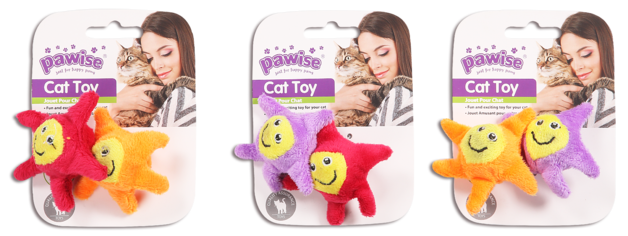 Pawise: Star Cat Toy - 2 Pack