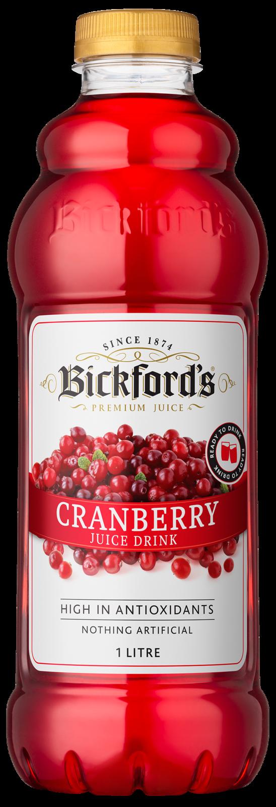 Bickfords: Premium Juice - Cranberry 1L 6pk image