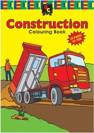 EC Colours - A4 No-Bleed Construction Colouring Book