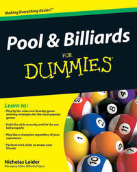 Pool and Billiards For Dummies by Nicholas Leider image