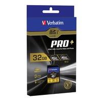 Verbatim Pro+ SDHC UHS-I U3 Memory Card - 32GB image