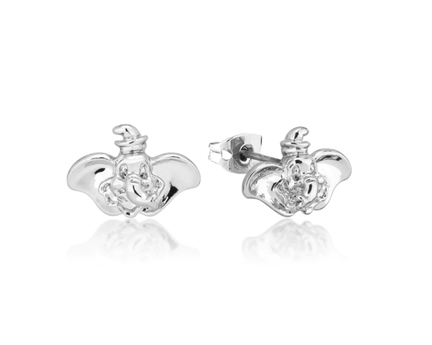 Couture Kingdom: Disney Dumbo Stud Earrings - White Gold