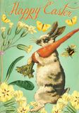Madam Treacle - Rabbit with Carrot Easter Card