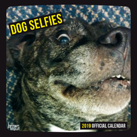Dog Selfies 2019 Square Wall Calendar