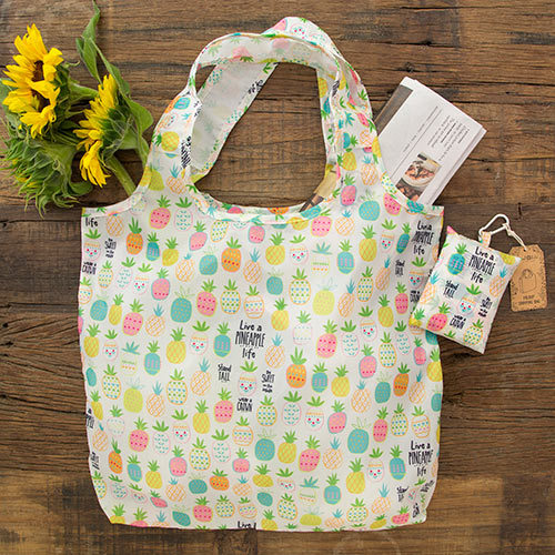 Natural Life: Fold-up Shopping Bag - Pineapple