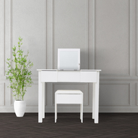 Dressing Table Set with Mirror & Stool