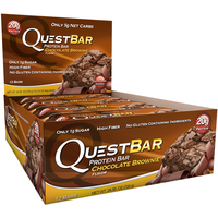 Quest Nutrition - Quest Bar Box of 12 (Chocolate Brownie)