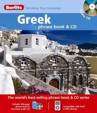 Greek Berlitz Phrase Book and CD image