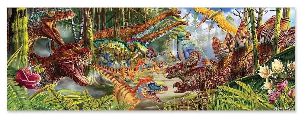 Melissa Doug World Floor Puzzle Dinosaurs