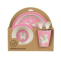 Rainbow Unicorn - Bamboo Tableware Set