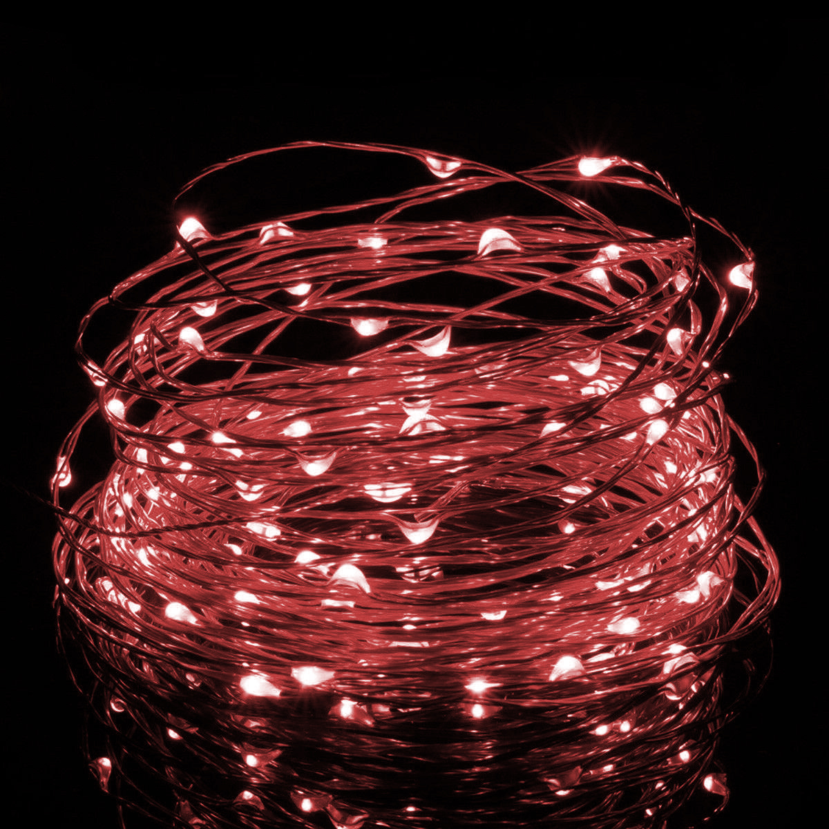 5m Usb Or Battery Powered Led Copper Wire String Lights Red