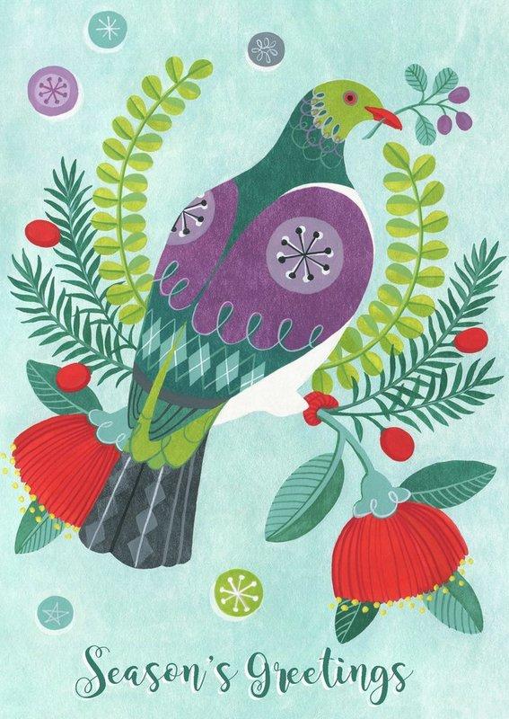 Tanya Wolfkamp: Christmas Card - Christmas Kereru