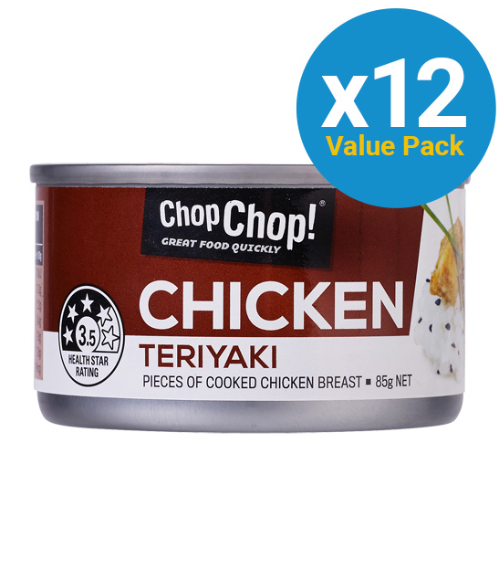Chop Chop: Chicken Chunks - Teriyaki 85g (12 Pack)