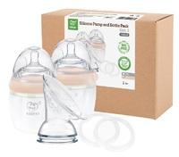 Haakaa: Gen 3 SiliconeBreast Pump& Baby BottlePack - Peach
