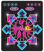 4Gamers Dance UK 8-Way Dance Mat for PlayStation 2