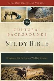 NIV, Cultural Backgrounds Study Bible, Hardcover, Red Letter Edition