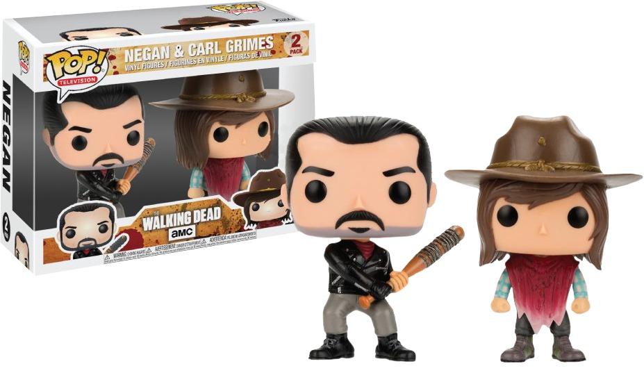 The Walking Dead - Negan & Carl Grimes Pop! Vinyl 2-Pack image