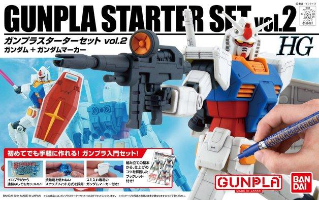 HGUC Gunpla Starter Set 2: Gundam Version G30th & Gundam Marker - model Kit