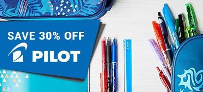 30% off Pilot Pens