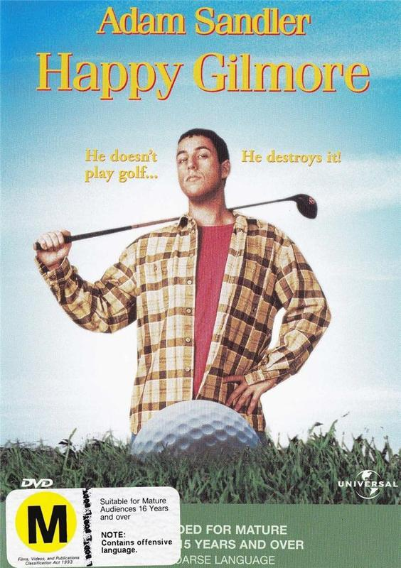 Happy Gilmore on DVD