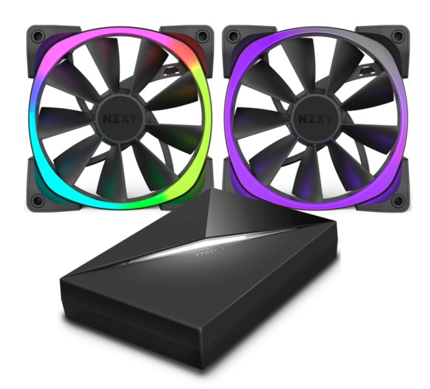 120mm NZXT Aer RGB & HUE+ - Bundle Pack Aer RGB Fans With Hue+ Controller