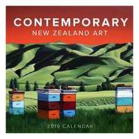 Contemporary New Zealand Art 2019 Square Wall Calendar