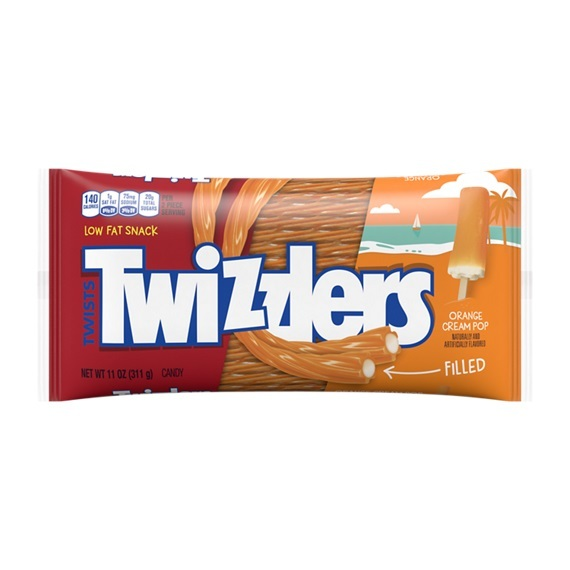 Twizzlers Orange Cream Pop Filled Twists (311g)