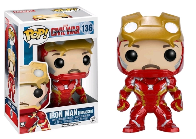 Captain America 3 - Iron Man (Unmasked) Pop! Vinyl Figure
