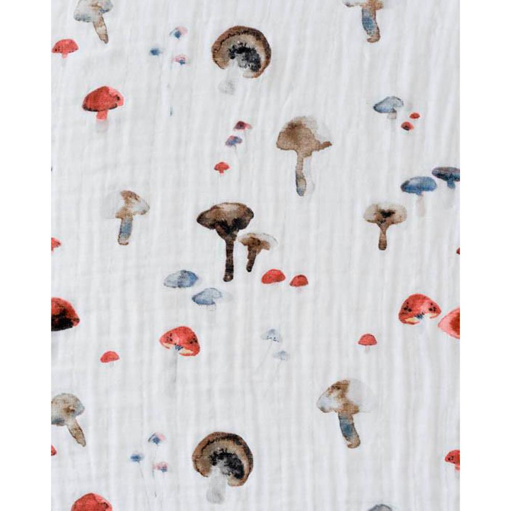 Little Unicorn: Cotton Muslin Swaddle - Mushroom (Single) image