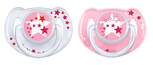 Philips Avent 6m+ Night Time Soother - Pink (2 Pack)