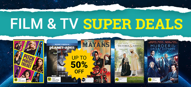 Film & TV Super Deals! Save up to 50% off!