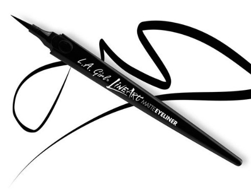 LA Girl Line Art Matte Eyeliner - Intense Black image