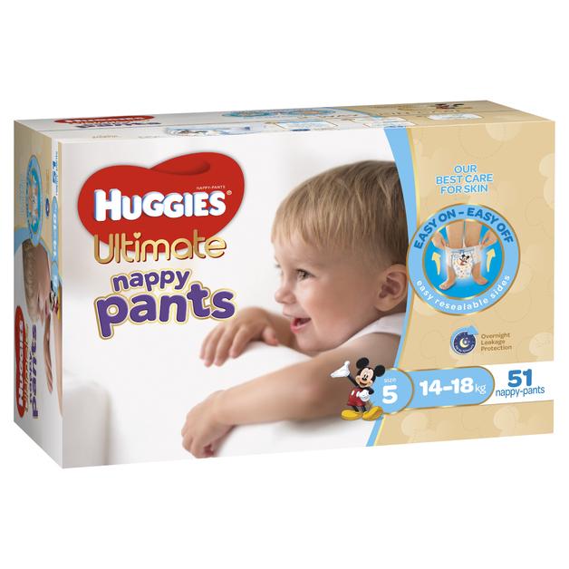 Huggies Ultimate Nappy Pants: Jumbo Pack - Walker Boy 14-18kg (51)