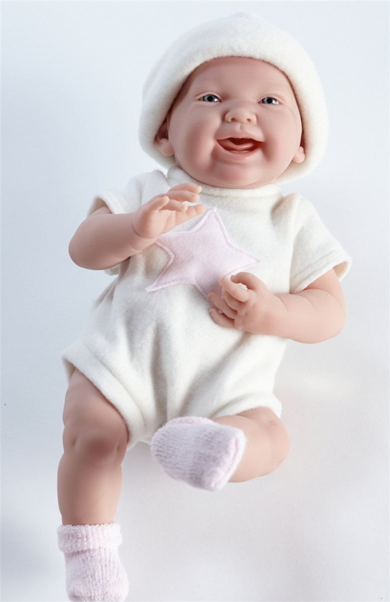 La Newborn Real Girl! Baby Doll - Cream (38cm) image