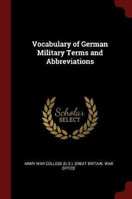 Vocabulary of German Military Terms and Abbreviations image