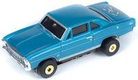 Auto World ThunderJets Ultra-G R9 '66 Chevy Nova Slot Car - Blue