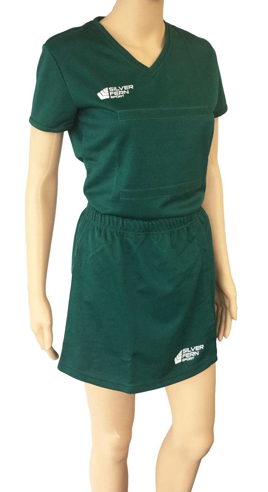 Silver Fern: Netball Skirt - Small (Forest Green)