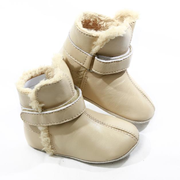 Skeanie: Pre-walker Snug Boots Cream - Medium