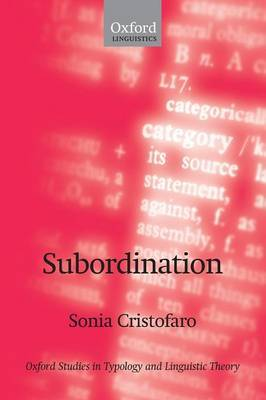 Subordination by Sonia Cristofaro image