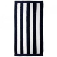 Bambury Egyptian Cotton Beach Towel (Navy Stripe)