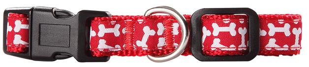 Pawise: Dog Collar - Red/Medium (35-50cm/20mm)