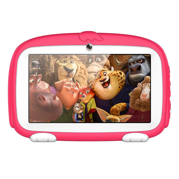 Kids 7-Inch Android Tablet with Protective Case - Pink